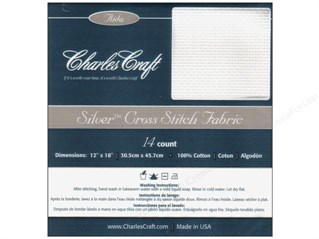 Charles Craft Silver Aida Cloth